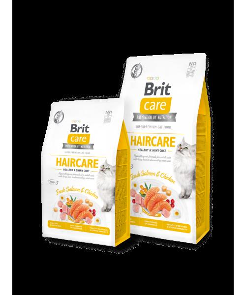 Brit Care Cat GF Haircare Healthy&Shiny Coat 7 kg