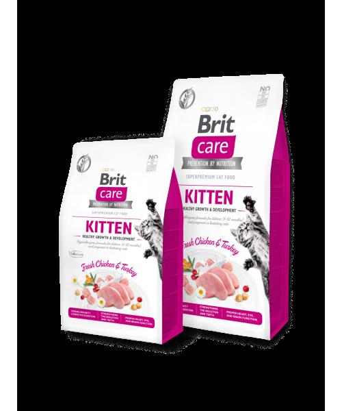 Brit Care Kitten Healthy Growth sausas maistas kačiukams 7 kg