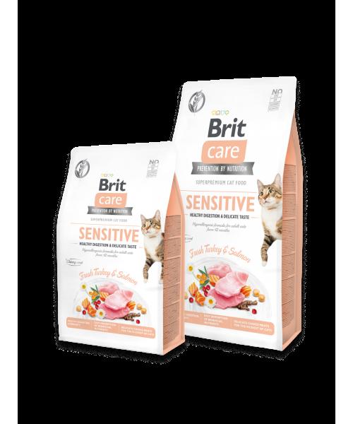 Brit Care Cat GF Sensitive Healthy Digestion&Delicate Taste 7kg