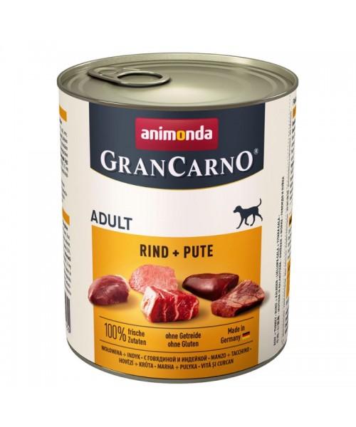 Animonda Grancarno konservai šunims su jautiena ir kalakutiena 800g