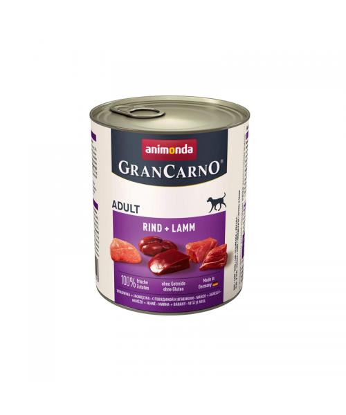 Animonda Grancarno konservai šunims su jautiena ir ėriena 800g