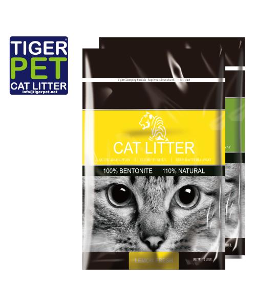 Tiger Pet citrinų kvapo bentonitinis kraikas 10L