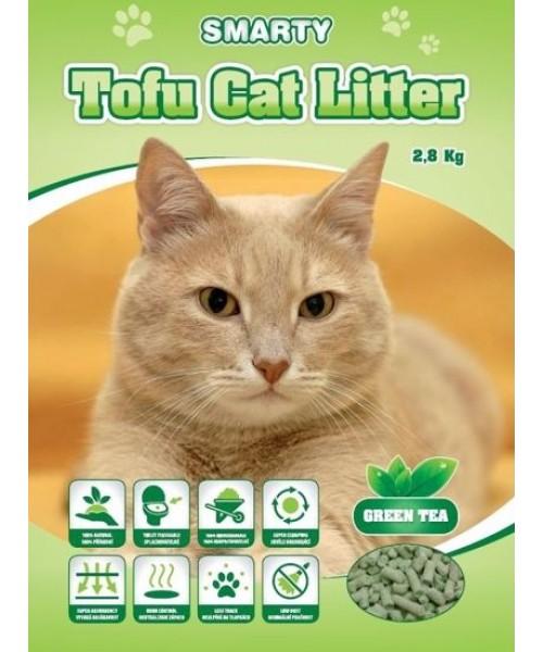 TOFU CAT LITTER GREEN TEA kraikas su žaliosios arbatos ekstraktu 6 L
