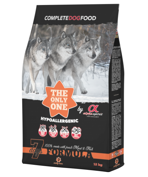 ALPHA SPIRIT 7 DAYS DRY COMPLETE DOG FOOD WEEK MENIU 12KG