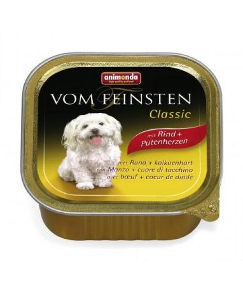 Animonda vom feinsten Classic konservai su jautiena ir kalakutų širdimis šunims, 150 g