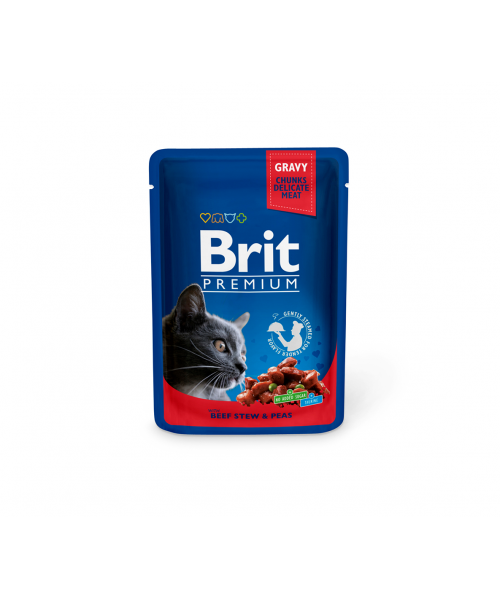 Brit Premium konservai katėms Beef Stew & Peas 100g