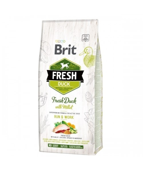 Brit Fresh Duck with Millet Active Run&Work 12kg