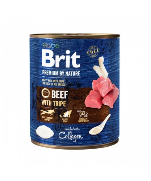 Brit Premium by Nature kons. šunims Beef with Tripes  800g