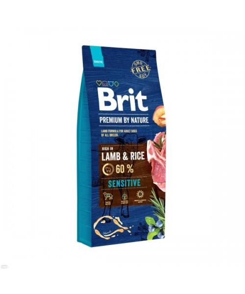 BRIT PREMIUM By Nature sensitive lamb & rice 15 kg
