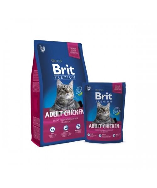 BRIT Premium Cat Adult Chicken (Atnaujinta formulė) 8 kg