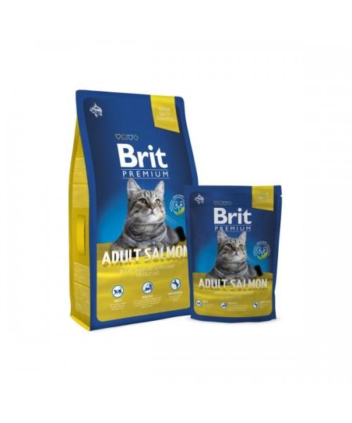 BRIT Premium Cat Adult Salmon (Atnaujinta formulė) 8 kg