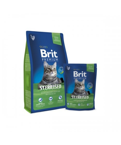 BRIT Premium Cat Sterilized (Atnaujinta formulė) 8 kg
