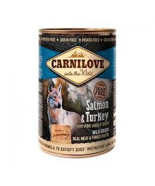 Carni Love Dog Wild Meat Salmon&Turkey 400g