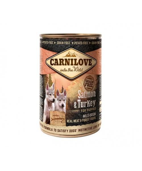 Carni Love Dog Wild Meat Salmon&Turkey Puppies 400 g