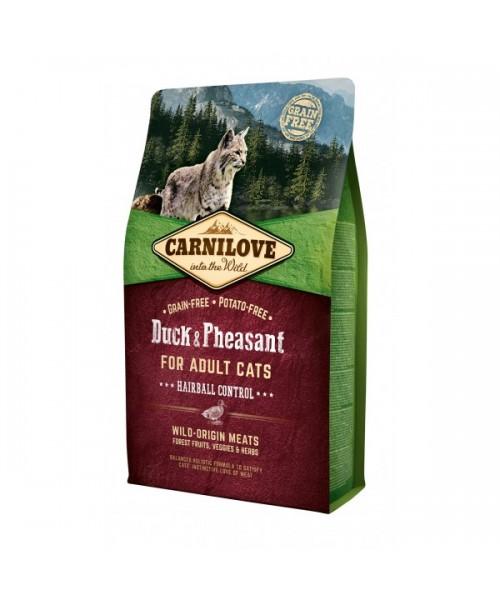 Carni Love Duck&Pheasant Adult Cat Hairball Control 6 kg