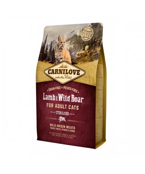 Carni Love Lamb&Wild Boar Adult Cat Sterilised 6 kg