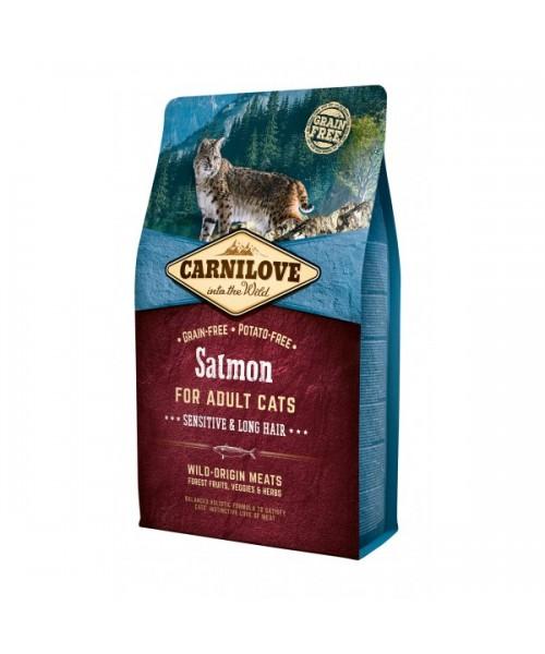 Carni Love Salmon Adult Cat Sensitive & Long Hair 6 kg
