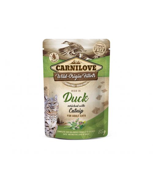 Carnilove kons. katėms maišeliuose Duck Catnip 85g