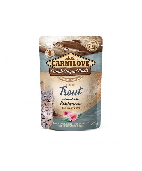 Carnilove kons. katėms maišeliuose Trout Echinacea 85g