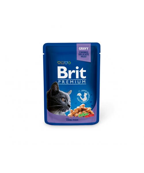 Brit Premium konservai katėms Cod Fish 100g