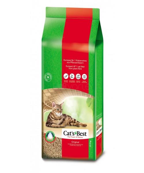 Ekologiškas Cat's Best sušokantis natūralus pjuveninis kačių kraikas Okoplus 40 l