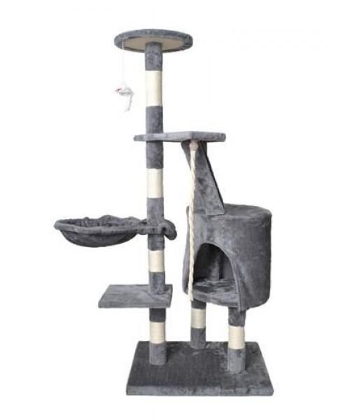 Draskyklė su nameliu ir hamaku katėms 118cm