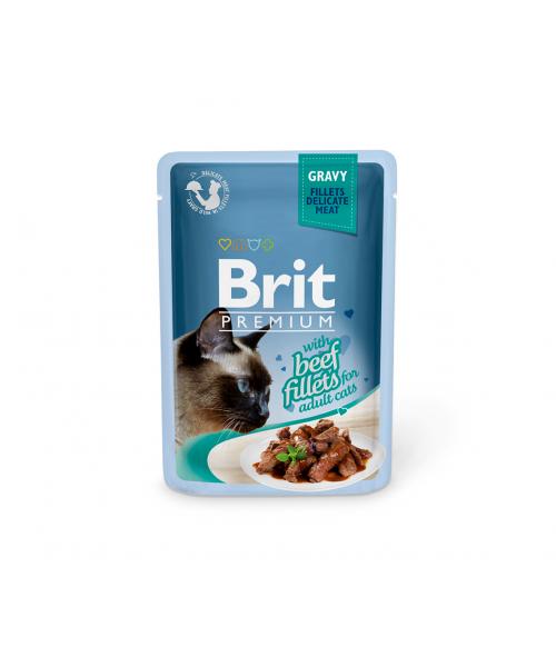 Brit Premium Delicate konservai katėms Beef in Gravy 85g