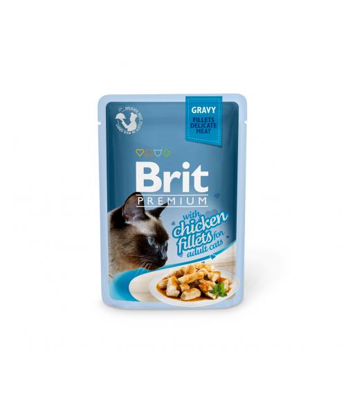 Brit Premium Delicate konservai katėms Chicken in Gravy 85g