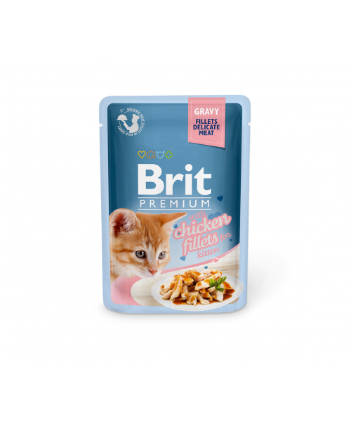 Brit Premium Delicate konservai katėms Chicken for Kitten in Gravy 85g