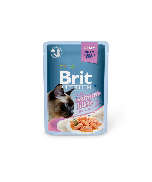 Brit Premium Delicate konservai katėms Salmon for Sterilised in Gravy 85g
