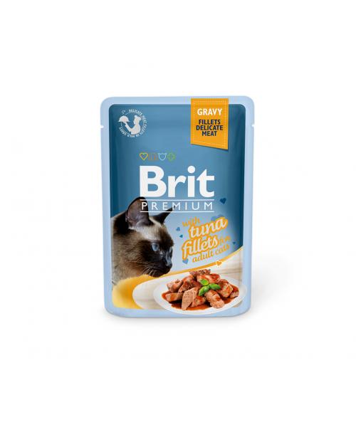 Brit Premium Delicate konservai katėms Tuna in Gravy 85g
