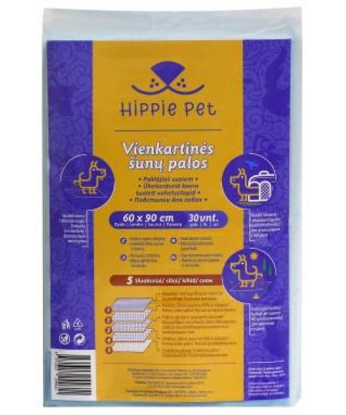 HIPPIE PET vienkartinės palos šunims, 60x90 cm ( 30 vnt.)
