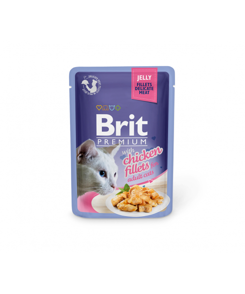 Brit Premium Delicate konservai katėms Chicken in Jelly 85g