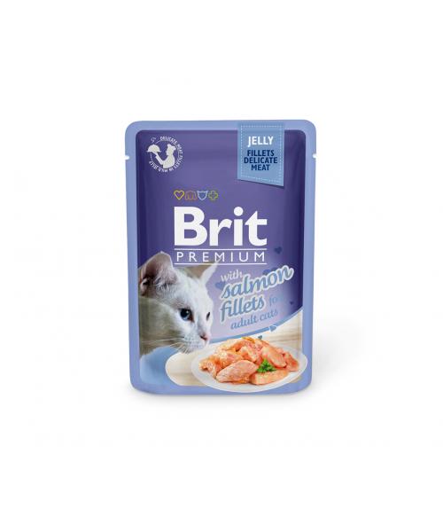 Brit Premium Delicate konservai katėms Salmon in Jelly 85g