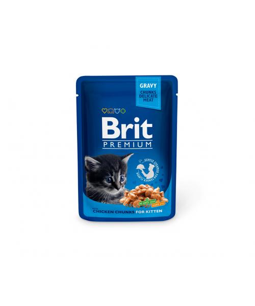 Brit Premium konservai katėms Chicken Chunks Kitten 100g