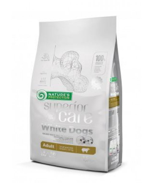 Nature's Protection Superior Care White Dogs Adult Small and Mini Breeds, 1,5 kg