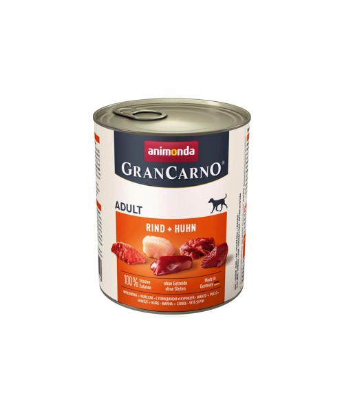 Animonda Grancarno konservai šunims su jautiena ir vištiena 800g