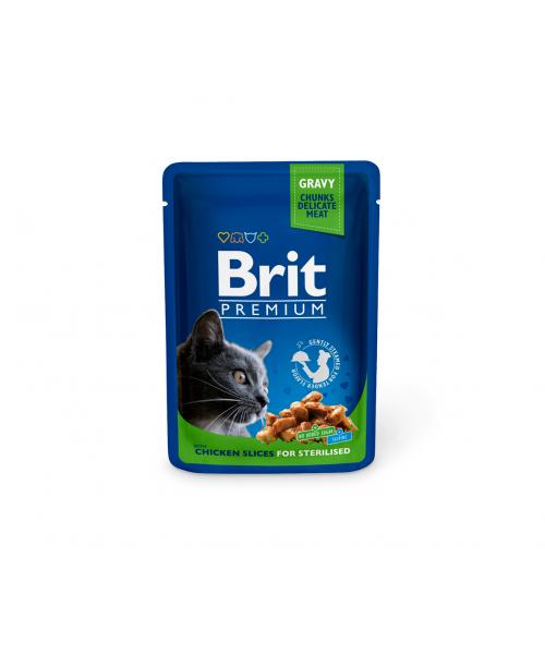 Brit Premium konservai katėms Chicken Slices Sterilised 100g