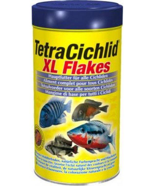 Tetra Cichlid XL Flakes pašaras, 500 ml