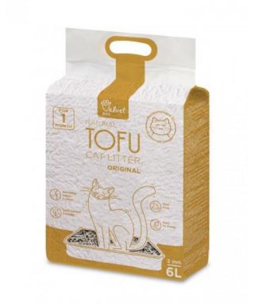 Velvet Paw Tofu kačių kraikas, originalus, 2 mm granulės, 6 l