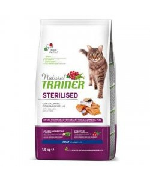 Trainer Natural Adult sterilised Cat with Salmon 10kg