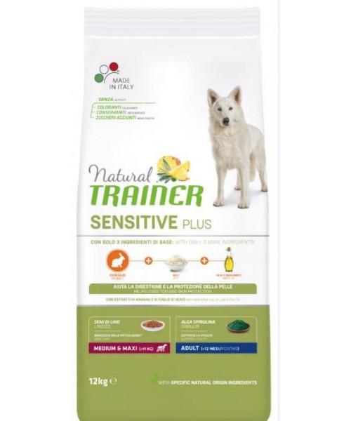 Trainer Sensitive Plus Adult Medium&Maxi Rabbit-Rice 12kg