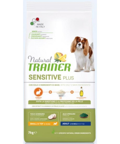 Trainer Sensitive Plus Adult Mini Rabbit-Rice 7kg.