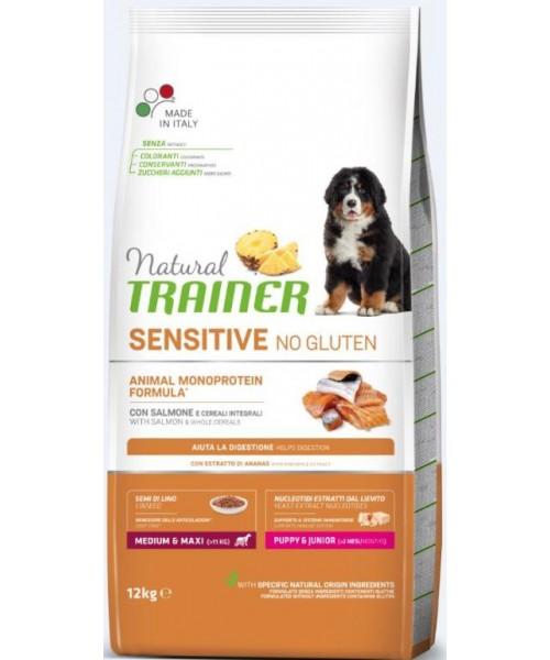 Trainer Sensitive Puppy Junior Medium/Maxi Salmon 12kg